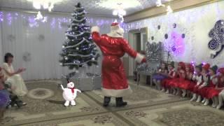 Танец деда Мороза и снеговика. на новогоднем утреннике 2014