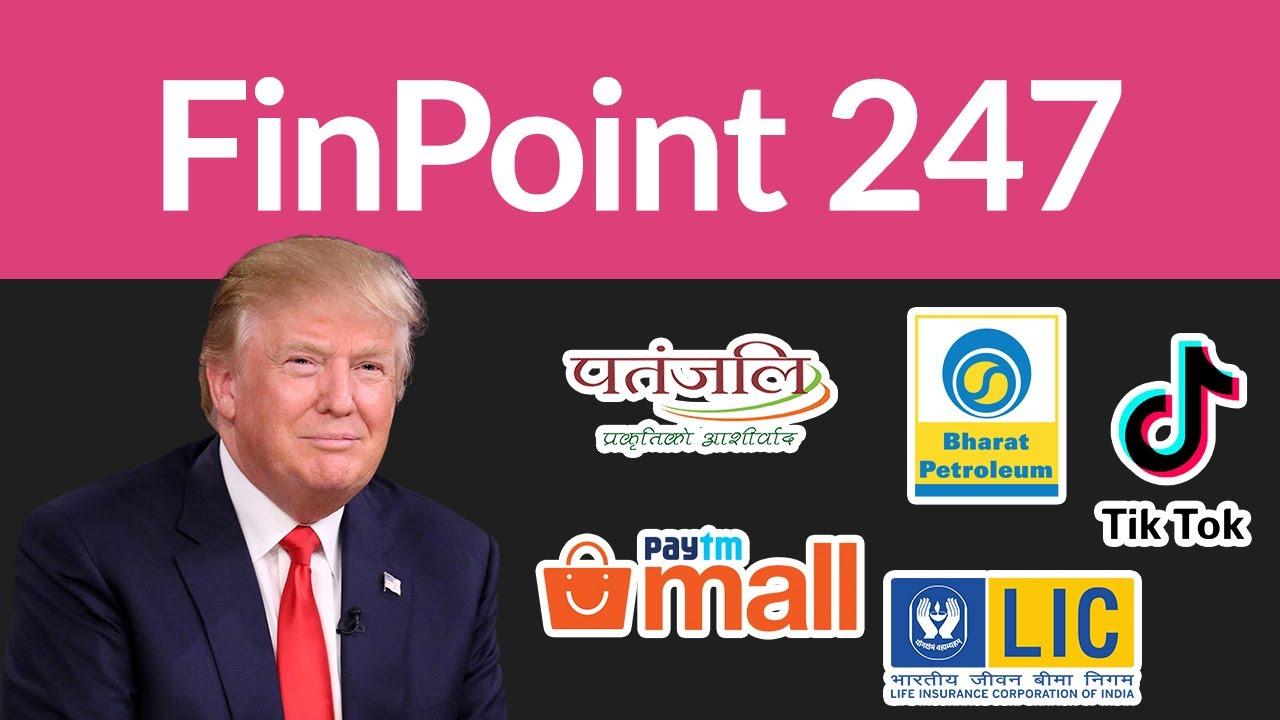 Donald Trump's India tour  LIC IPO  Apple Watches   TikTok  Patanjali   PayTM  BPCL   Coronavir