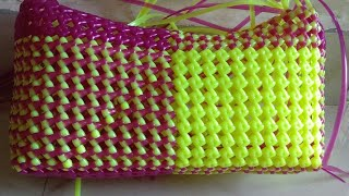 2 roll lunch basket making clear easy tutorial-1|2 / லஞ்ச் கூடை பின்னுதல்