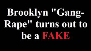 "Brooklyn ""Gang Rape"" turns out to be a FAKE"