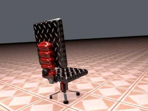 silla con cinema 4d