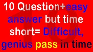 Real IQ Test Question and Answer - How Smart Your IQ - Intelligence Test (10 question) part 10