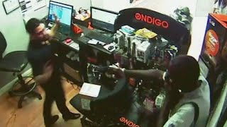 Robbers Trapped by Clever Clerk [CAUGHT ON TAPE]