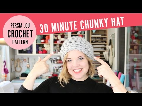 How to Crochet a Chunky Hat in 30 Minutes! Free Quick & Easy Crochet Pattern