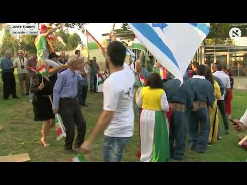 Israelis of Kurdish origin gather in Jerusalem in support of Kurds' independence