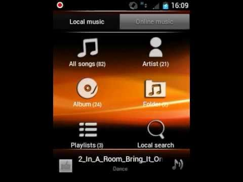 Sony ericsson on galaxy y launcher and widgets