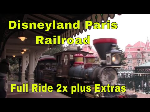 Disneyland Paris Railroad full ride twice and extras