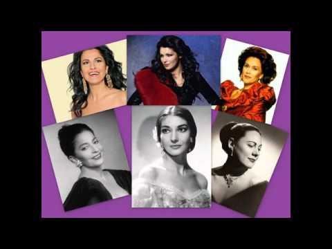 Beautiful opera arias, famous female opera singers