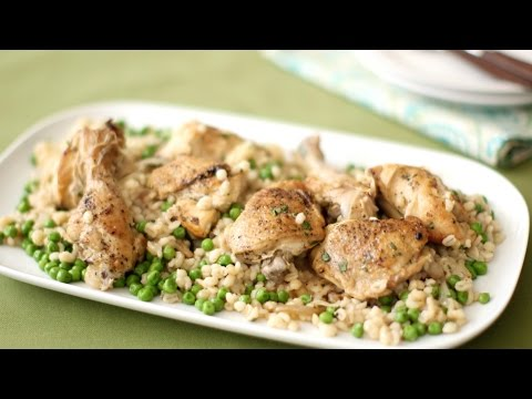Garlic Chicken With Barley In The Slow Cooker
