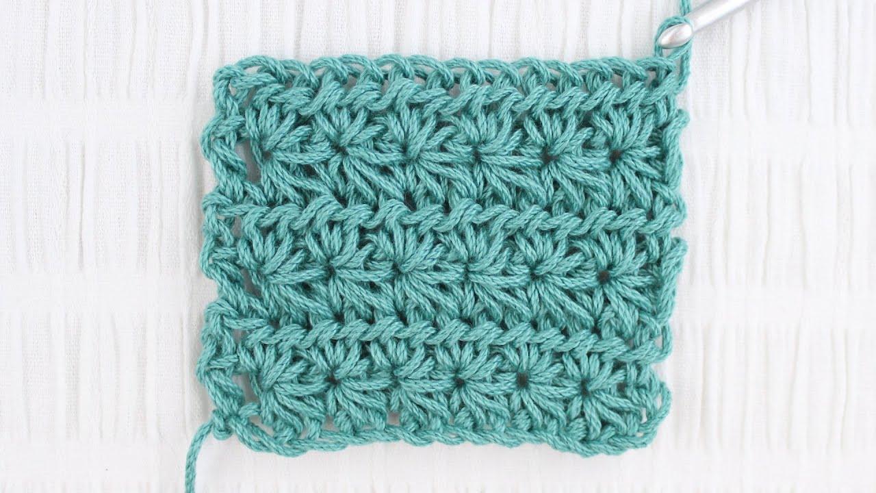 Star Stitch Crochet Tutorial Youtube