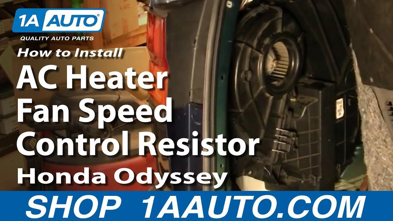 How to Replace Blower Motor Resistor 9504 Honda Odyssey