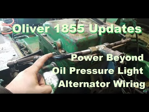 Oliver 1855 Updates Hydraulic Temperature Power Beyond Oil Pressure on