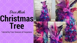 Repeat youtube video PART 1 deco mesh tomato cage Christmas tree, Christmas tree