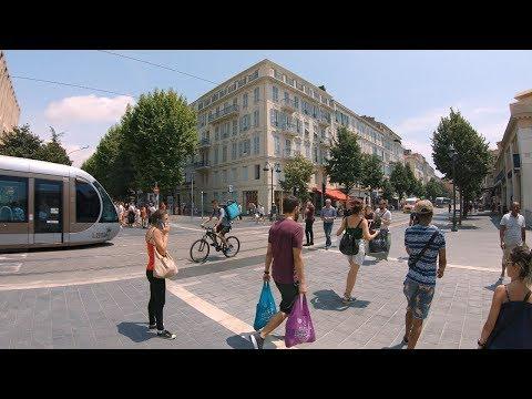 Walking Nice, France - MAIN SHOPPING STREET Avenue Jean Médecin