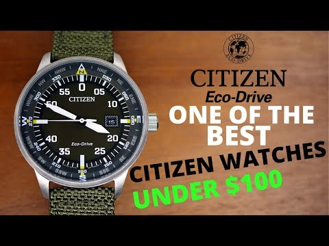 Citizen Eco-Drive Military Watch Under $100 Review (4K)