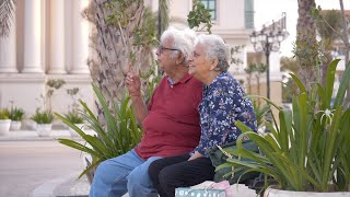 Senior Indian couple happily enjoying their Sunday weekend together - leisure time