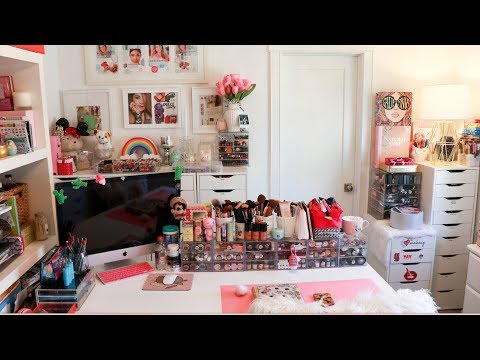 Girly GLAM Room Reveal + Spring Cleaning + Organizing Tips