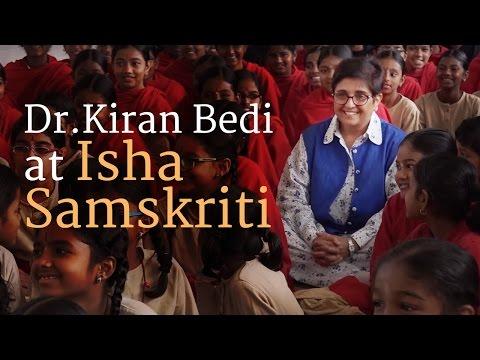 Dr.Kiran Bedi at Isha Samskriti