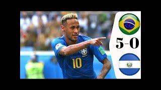 BRAZIL VS EL SALVADOR 5 0 Highlights Goals UEFA Nation League 2018