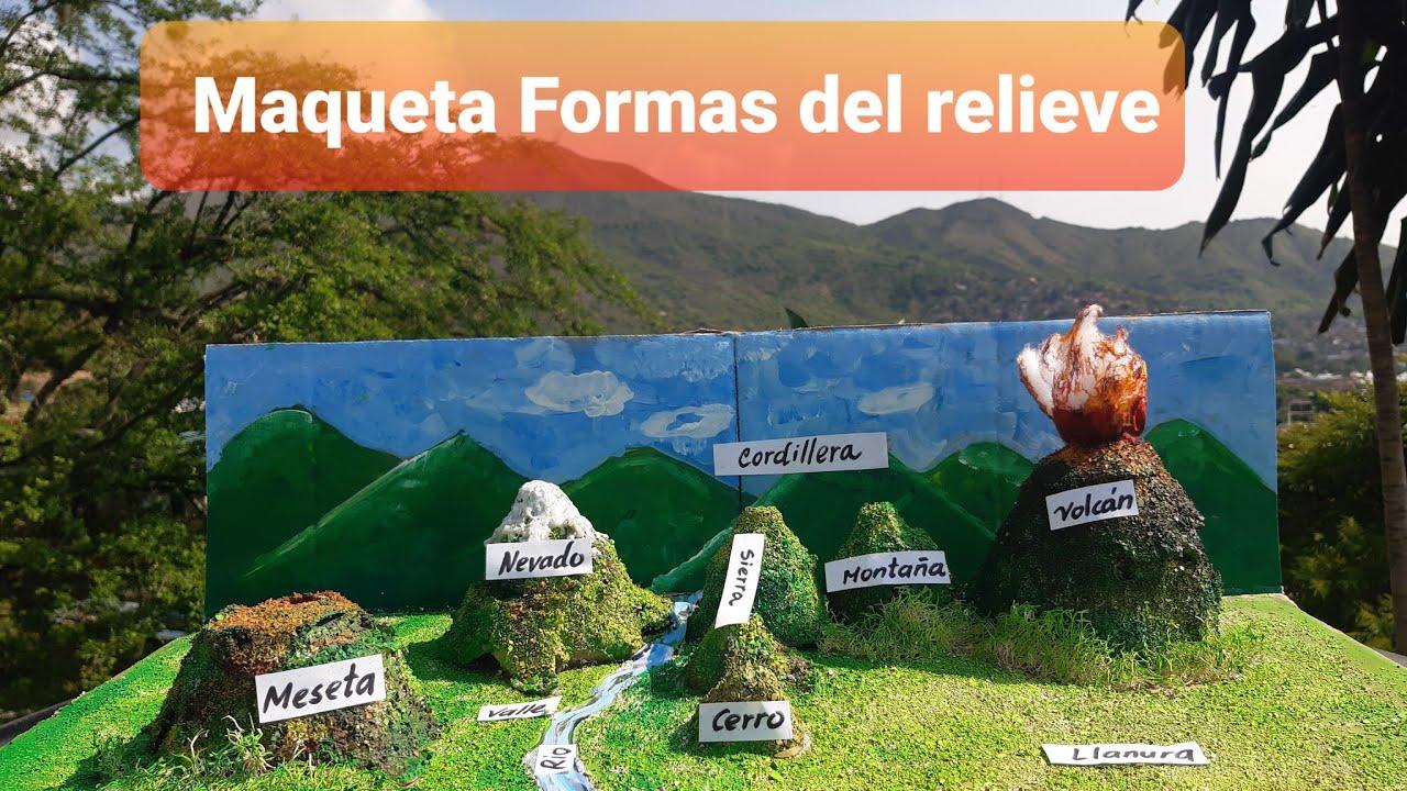 Maqueta Formas Del Relive Youtube