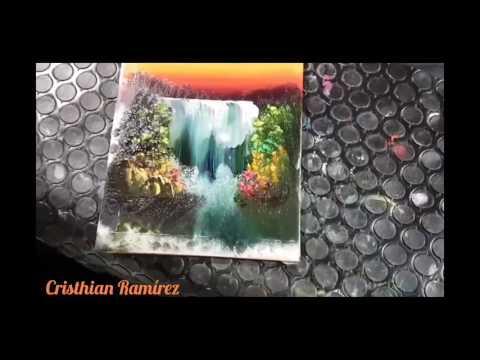 "Tutorial Finger Painting #5 ""waterfall"""