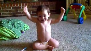 kids showing muscles