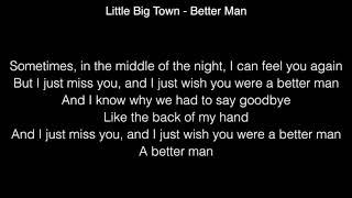 Little Big Town - Better Man Lyrics ( The 60th GRAMMYs ®)