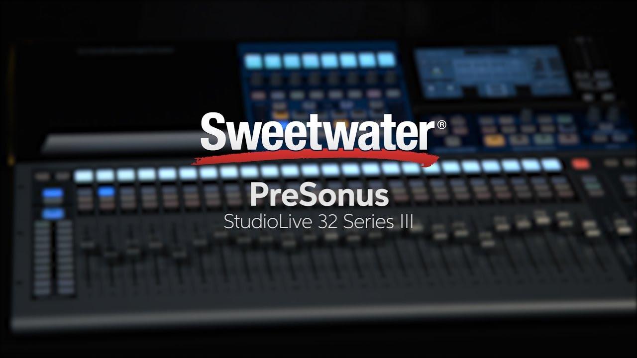 presonus studiolive 32 series iii digital mixer recorder overview youtube. Black Bedroom Furniture Sets. Home Design Ideas