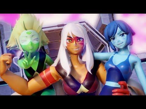 [Steven Universe animation] Jasper + Lapis + Peridot FUSION (vs White Diamond) motion download dl