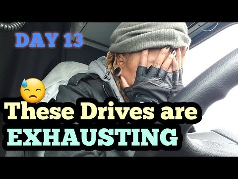 The Most Exhausting Drive EVER😭| Prime Inc. ROOKIE winter Truck Driving