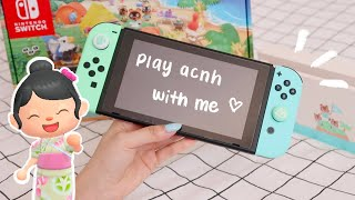 UNBOXING | animal crossing nintendo switch + play with me! 🏝️