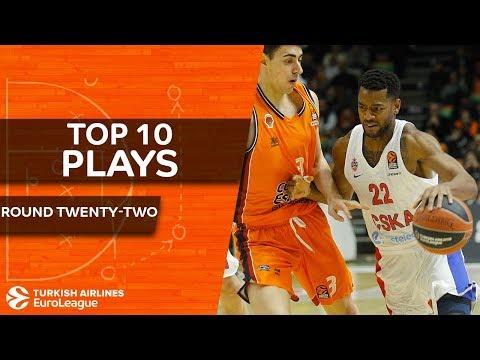 Top 10 Plays  - Turkish Airlines EuroLeague Regular Season Round 22