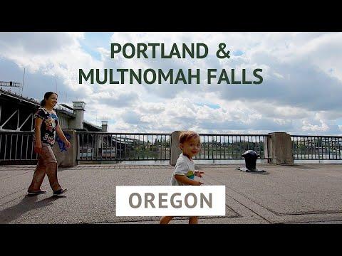 Portland in a Day | Oregon: Multnomah Falls, Powell's Books, Aerial Tram, Rocky Butte | Family Trip