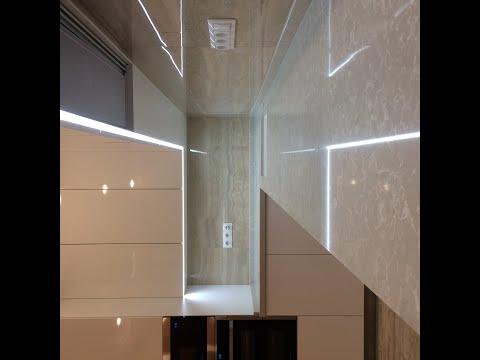 Белая глянцевая кухня с фурнитурой BLUM