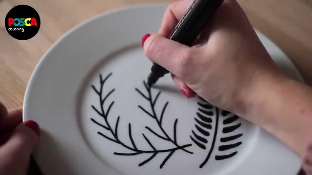 Peinture Sur Porcelaine Assiette tuto déco : comment personnaliser vos assiettes avec des marqueurs posca