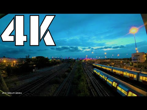 4K | Fast Moving Clouds Time Lapse | London Underground Trains