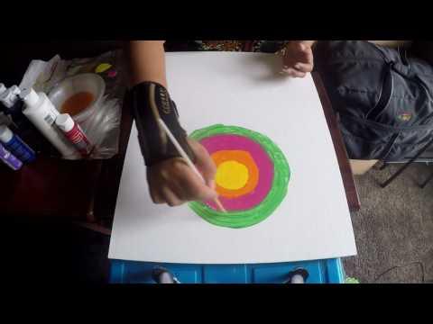 Acrylic Painting – Bandhani – Indian Tie Dye – Step By Step Tutorial – Wall Art – DIY