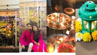 Our Diwali Vlog 2018 |  Vlog with Devar | Celebrations , Pooja & Decor