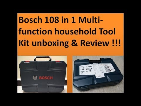 Bosch 108 in 1 Multi-function household Tool Kit unboxing & Review !!! By  GJ Aalan