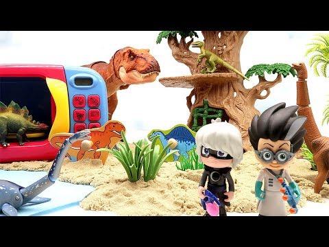 Learn Dinosaur With Wooden Puzzle | Jurassic World 2 Fallen Kingdom, PJ Masks Toys Transforming Dino