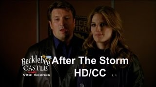 "Castle: 5x01 ""After The Storm""  End Scene - Beckett Grabs Castle  (HD/CC/L↔L or Translatable)"