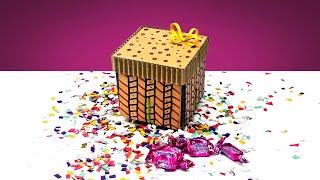 Amazing Diy Explosion Gift Box From Cardboard !!!
