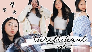 CUMA 45.000?! 😱 MURAH POL BELANJA PUAS!! THRIFT SHOP HAUL VOL. 1