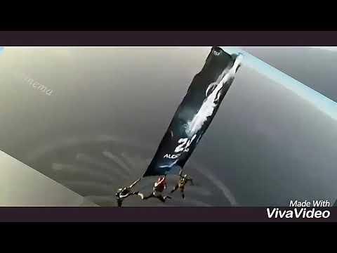 2.0 Audio Launch | Dubai | Sky Diving Promotion