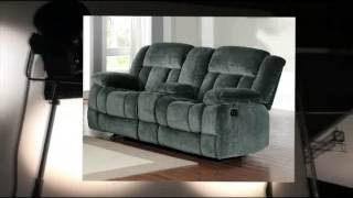 Homelegance 9636cc-2 Laurelton Textured Plush Microfiber Dual Glider Recliner Love Seat With Console