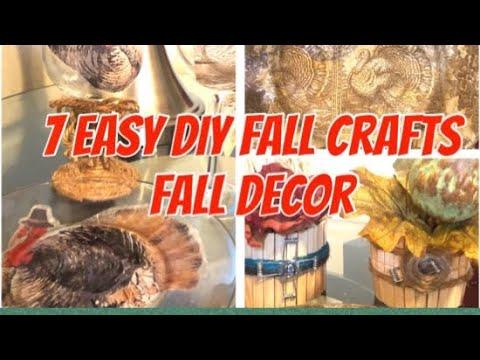 DIY Fall Décor| Dollar Tree| 7 Easy DIY Fall Crafts  Creating Elegance For Less 2019