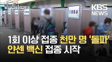 백신 누적 1차접종 천만 명 넘어…얀센 백신 오늘부터 접종 / KBS 2021.06.10.