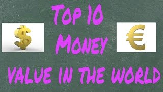 Top 10 Highest value Currency in the world 2016 latest update