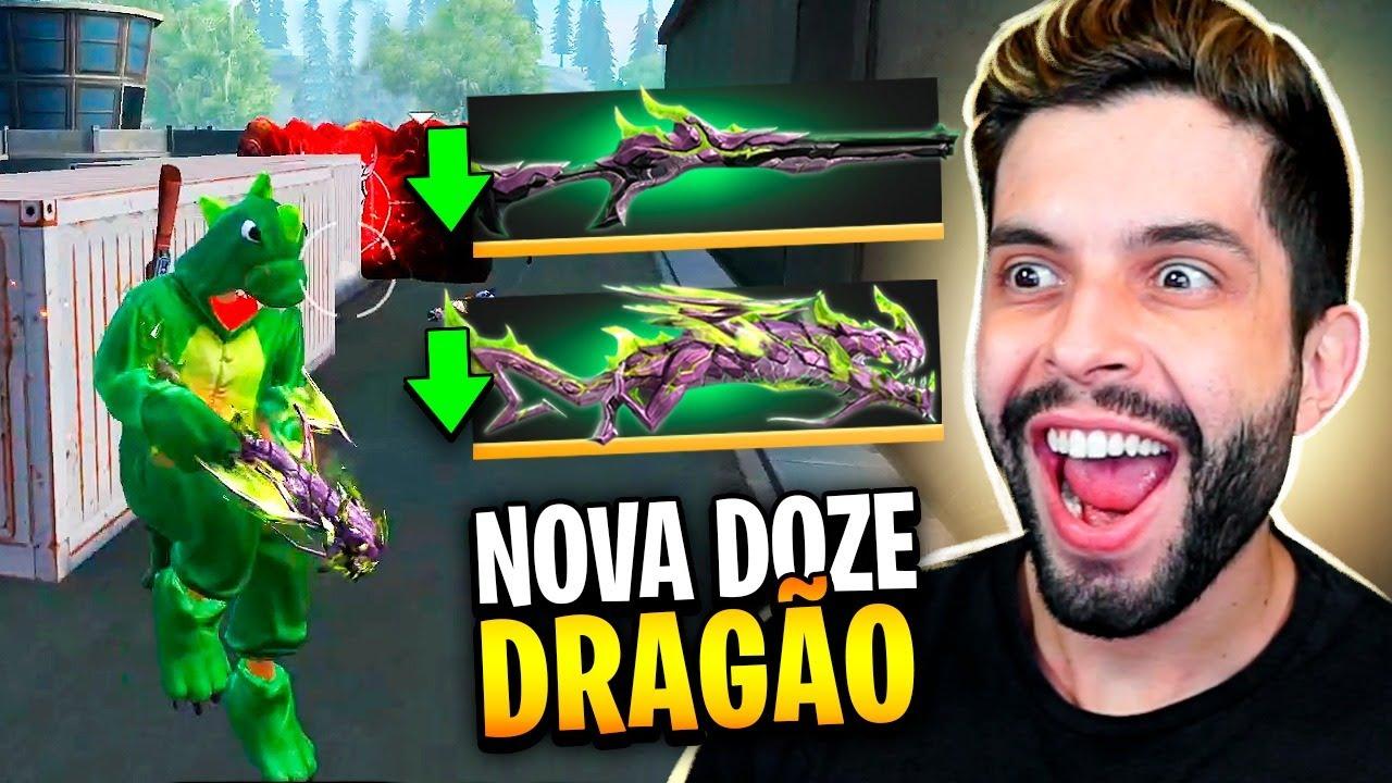 TESTEI A NOVA DOZE DO DRAGÃO NÍVEL MÁXIMO NO FREE FIRE!!