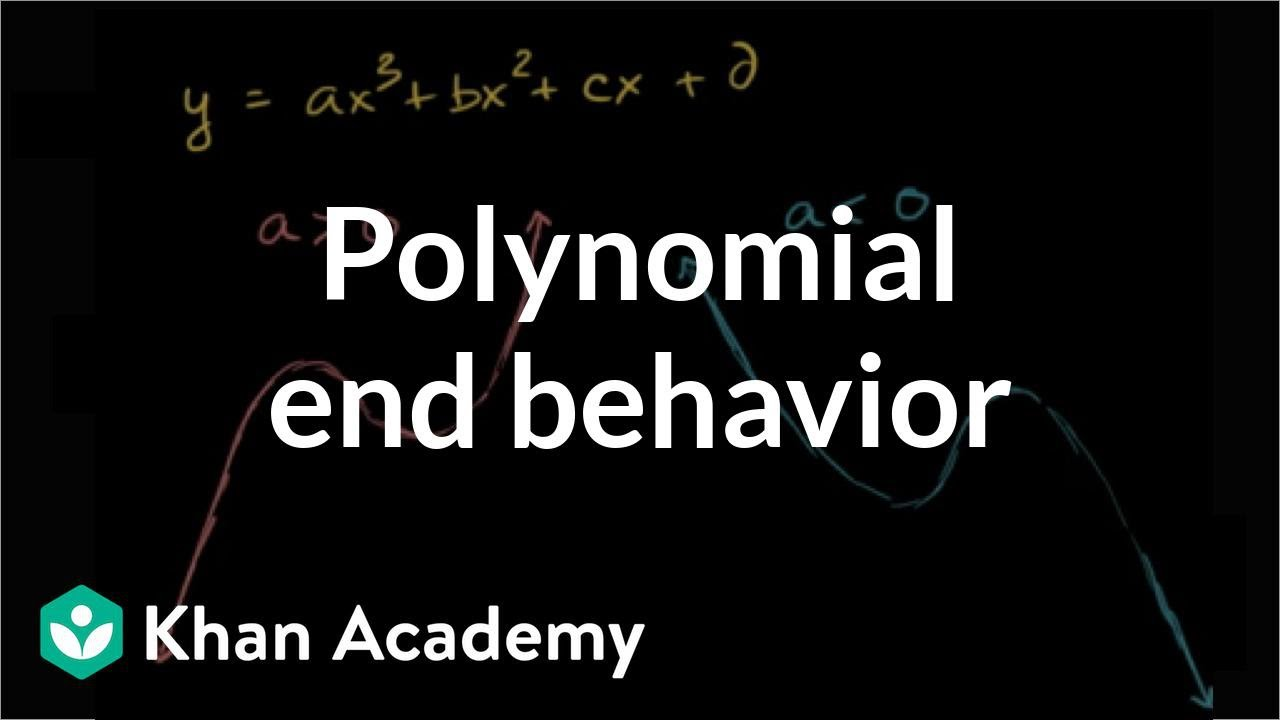 Intro to end behavior of polynomials (video)  Khan Academy